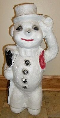 RARE Unmarked Snowman (Possibly Borse ?) - Plastic Blow Mold Light