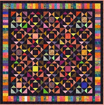 """NEW - BUNAKEN - 77"""" - Pre-cut Quilt Kit by Quilt-Addicts Double size"""