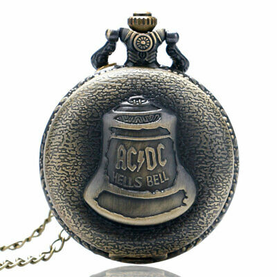 Antique Quartz Pocket Watch Full Hunter Necklace Chain Arabic Numerals Dial Gift