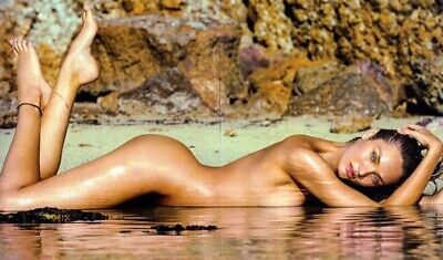 Candace Swanepoel - Lying On The Beach Nude On Her Tummy !!!