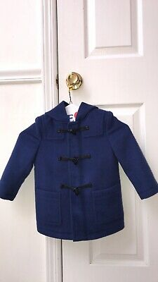 BURBERRY Authentic Toddler Boys Fall Blue Coat Size 2