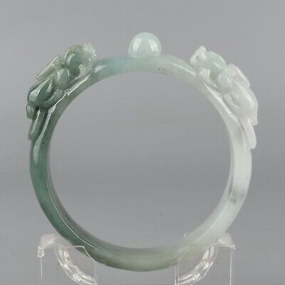 Chinese Exquisite Hand-carved beast Carving jadeite bracelet