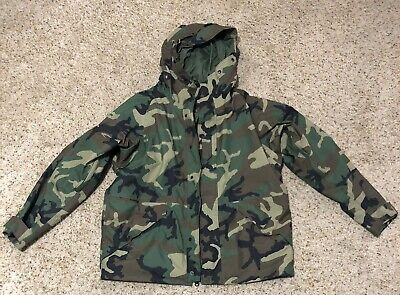 Us Military Usgi Army Issue Woodland Goretex Jacket Ecwcs Parka Large Regular.