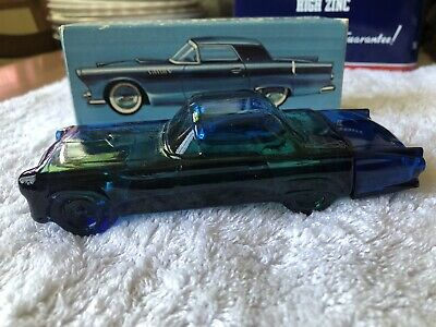 """VINTAGE AVON AFTER SHAVE 1955 FORD THUNDERBIRD FULL BOTTLE w/BOX """"DEEP WOODS"""""""