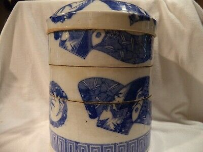 Beautiful Chinese Blue and White Porcelain 4 piece jar