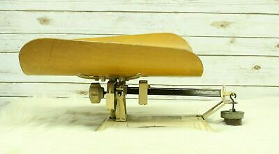 Antique Detecto Beam Cast Iron With Wood Cradle Doctors Office Baby Scale