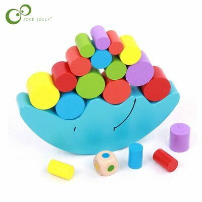 Educational Wood Moon Balance Game Blocks Gift Baby Toys children building block