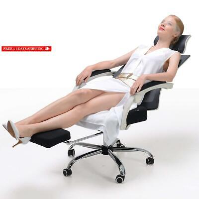 Hbada Ergonomic Office Recliner Chair - High Back Desk Chair Racing Style With L