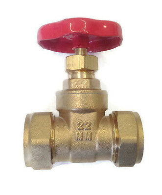 15mm 22mm 28mm Brass Gate Valve With olives