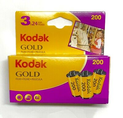 Kodak Gold 200 24exp 3 pack 8024715 ISO 200 35mm SEPT 2020 Expiration
