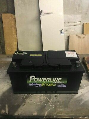 Powerline leisure battery boat / solar / caravan / motorhome 12v 110 ah
