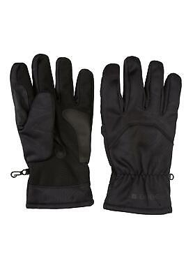 Mountain Warehouse Mens Windproof Extreme Gloves with Water-Resistant