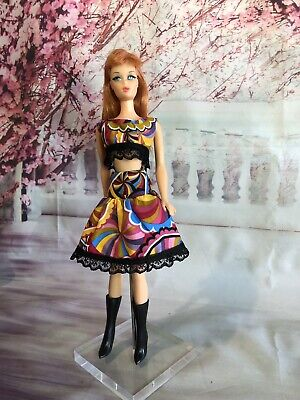 OOAK Doll Fashion for Barbie, Silkstone, Mod Vintage Clare's Couture 20
