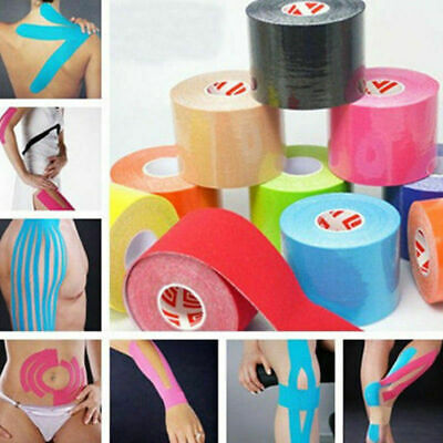 5M Athletic Muscle Tape Kinesiology Physio Strapping Sport Body Knee Rocktape