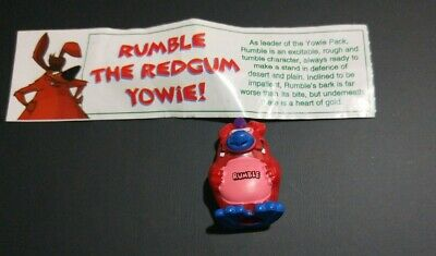 Original Yowies toy RUMBLE the Redgum Yowie with paper