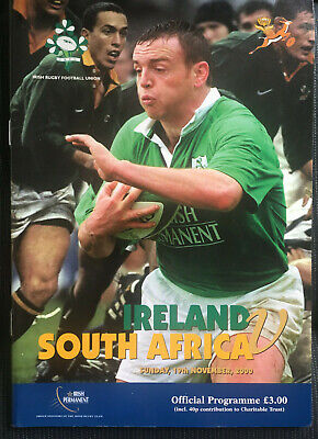 IRELAND v SOUTH AFRICA 2000 Test RUGBY Programme