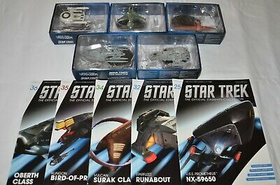 Bulk Lot #4 - Star Trek Starships - Eaglemoss - Issues 25, 32, 34, 35, 36