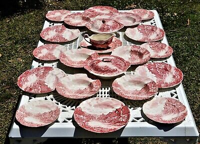 Johnson Bros Olde English Countryside Vintage dinner set for 6 plus serving ware