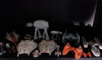Star Wars Action Fleet Vehicles and mini figures A-Wing Y-Wing Snowspeeder AT-AT