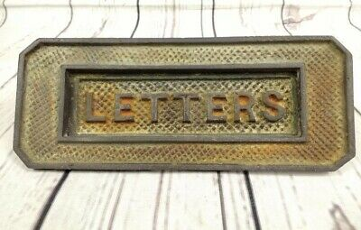 Cast Iron Original Victorian Letterbox With All Door Fixing Amazing Quality