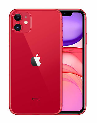 New Sealed Apple iPhone 11 (PRODUCT)RED - 128GB (Unlocked) A2221 CDMA + GSM 2019