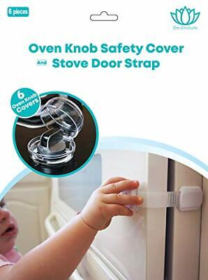 Stove Knob Covers |6 Pack| Child Safety Oven Baby Proofing Kit w/Oven Door