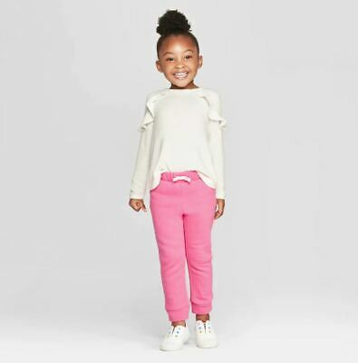 Toddler Girls' Long Sleeve Cozy Pullover - Cat & Jack™ Almond Cream 3T