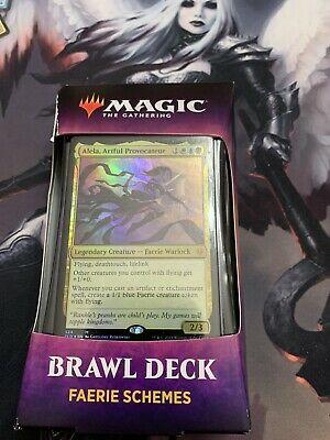 MTG Faerie Schemes Throne of Eldraine Brawl Deck - Alela, Artful Provocateur