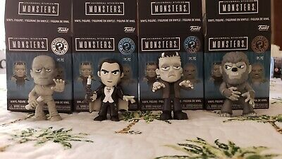 Universal Monsters Minis (B/W) Set of 4: DRACULA, FRANKENSTEIN, MUMMY, WOLF MAN