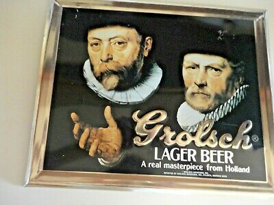 Grolsch Premium Lager beer sign vintage  tin bar sign import