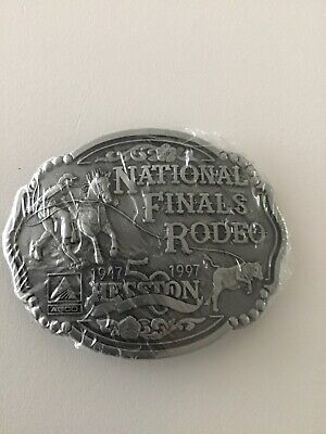 1947 - 1997 50 Hesston National Finals Rodeo NFR Adult Belt Buckle New