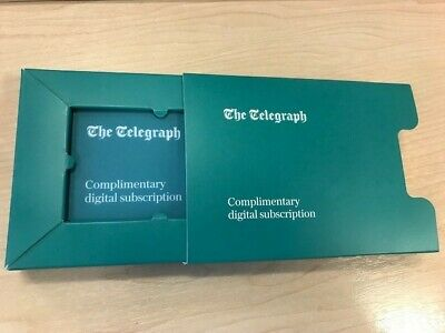 Telegraph Premium one year digital subscription. Brand new & unused. Gift boxed