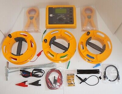 Fluke 1623-2 Kit Basic Geo Earth Ground Tester Cable Reels Ground Stakes Clamps