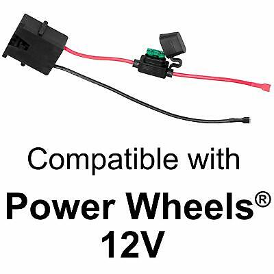 Wiring Harness Connector for Fisher-Price Power Wheels to 12-Volt SLA Battery