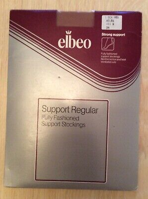 Vintage New  elbeo Support Regular . Fully Fashioned Support Stockings.