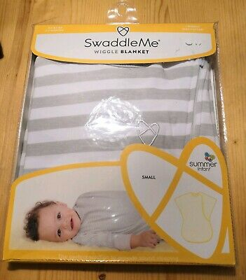 Baby Swaddle Me Wiggle Blanket Summer Infant Small 12-18lb sleepwear neutral NEW