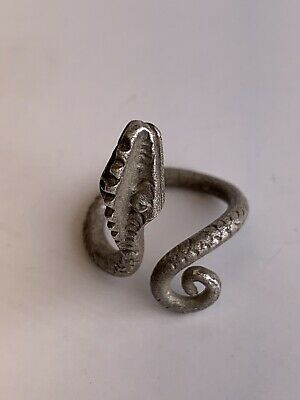 ROMAN SILVER SNAKE RING 1st- 2nd Century AD