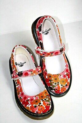 Dr. Martens girls US 3  mary jane shoes red/pink floral UK 2