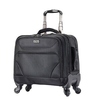 Rolling Briefcase on 4 Wheels Rolling Laptop Bag Rolling Computer