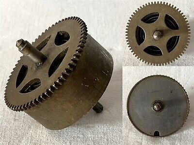 Vintage Brass Clock Barrel, Mainspring & Size 5 Spindle NO KEY #9