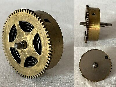 Vintage Brass Clock Barrel, Mainspring & Size 5 Spindle NO KEY #12