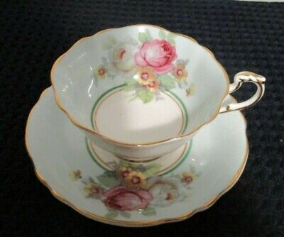 PARAGON FINE BONE CHINA FOOTED TEA CUP & SAUCER (Double Warrant)