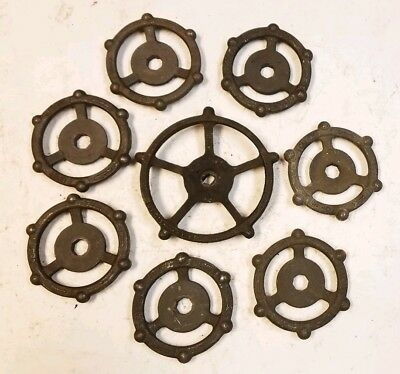 8 Beautiful Iron Water Spigot Knob Valves Handle Steampunk Industrial Art