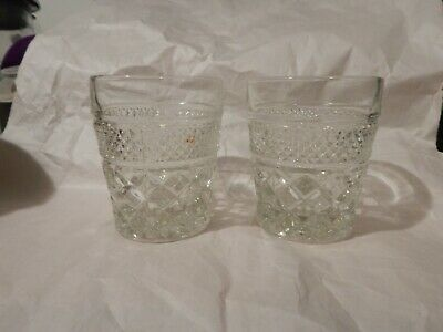 Anchor Hocking WEXFORD Double Old Fashion Glasses, pair
