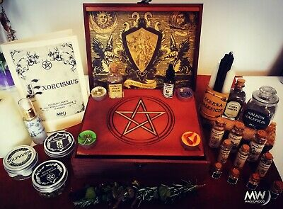 Protection Box, Witchcraft, spells, wicca, spiritual, sorcery, pentacle