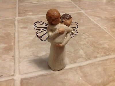 Willow Tree Woman Holding Baby Figure Mother Embracing Toddler Angel Figurine