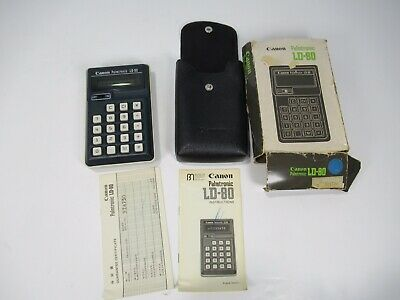 CANON PALMTRONIC LD-80 Vintage Calculator & Case Works GREAT WORKS GREAT