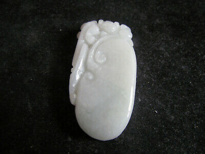 Chinese Exquisite Hand carved carving jadeite jade Ru yi beast Pendant