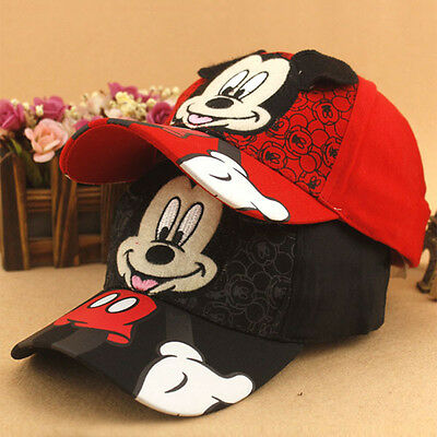 Boys Girls Mickey Mouse Baseball Cap Hip-Hop Adjustable Snapback Travel Sun Hat