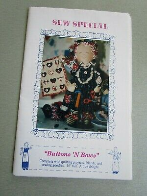 Buttons & Bows Sew Special Cloth Doll Pattern For 15 Inch Doll